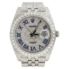 Rolex 126300 Datejust II All Diamond Blue Roman Dial Watch