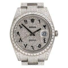 Rolex 126300 Datejust II All Diamond Black Arabic Dial Watch