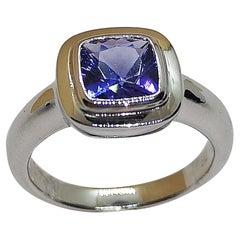 Tanzanite Ring Set in 18 Karat White Gold Settings