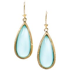 Luminous Turquoise Drop Earrings