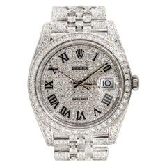 Rolex 126300 Datejust II All Diamond Black Roman Dial Watch