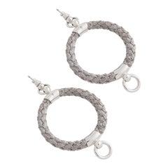 "Betony Vernon ""Noble Rope Hoop Small Earrings"" Sterling Silver Earrings in Stock"