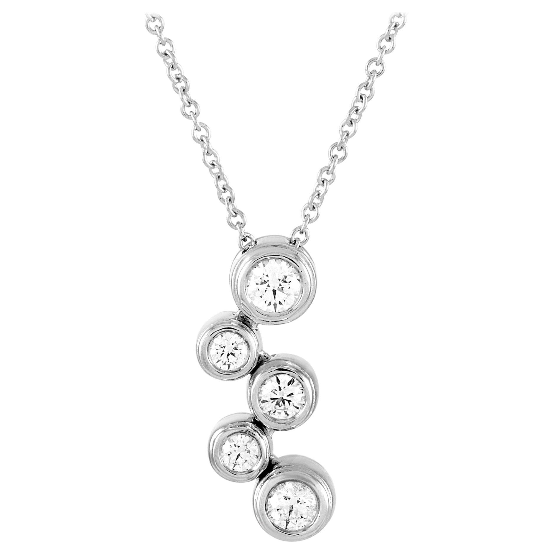Tiffany & Co. Bubble Platinum 0.50 Carat Diamond Pendant Necklace