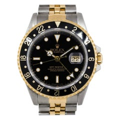 Rolex 16713 GMT-Master II Two Tone Black Dial Watch