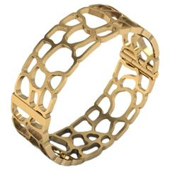 Christoph Blatter and Sparkles Gold Bracelet