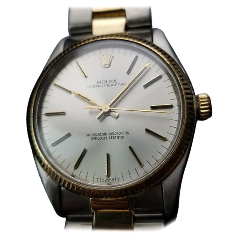 Men's Rolex Oyster Perpetual Ref.1005 18k Gold & SS Automatic, c.1980s LV718