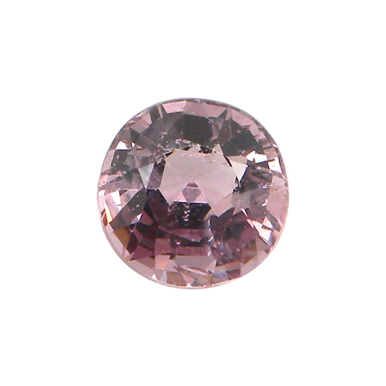3.02 Carat Unheated Round-Cut Burmese Pink-Purple Spinel