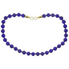 Lapis Lazuli 12MM Bead Necklace