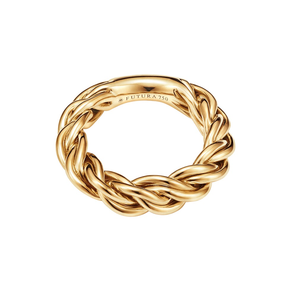 18kt Fairmined Ecological Yellow Gold Viking Astrid Woven Ring