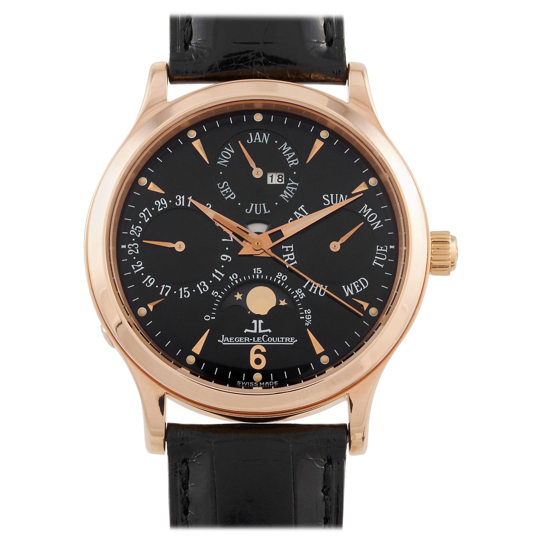 Jaeger-LeCoultre Master Control Perpetual Calendar Rose Gold Watch 140.2.80