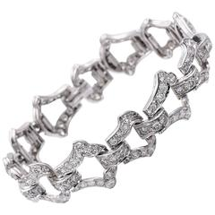 Art Deco Cartier Diamond Platinum Bracelet