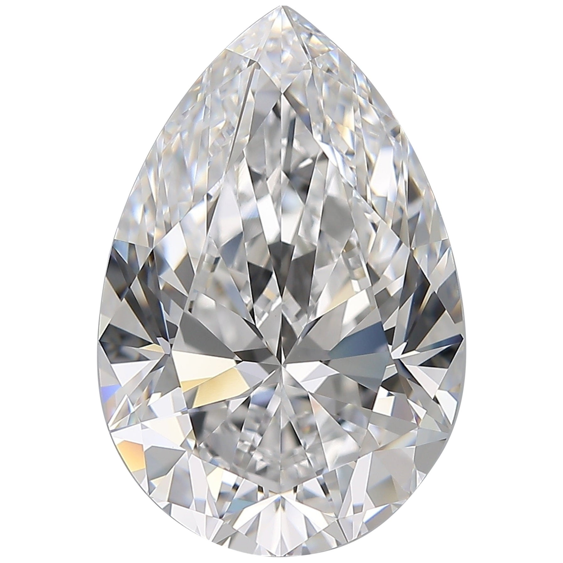 Flawless Clarity D Color GIA Certified 10 Carat Pear Cut Diamond