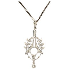 Art Deco Diamond Gold Pendant
