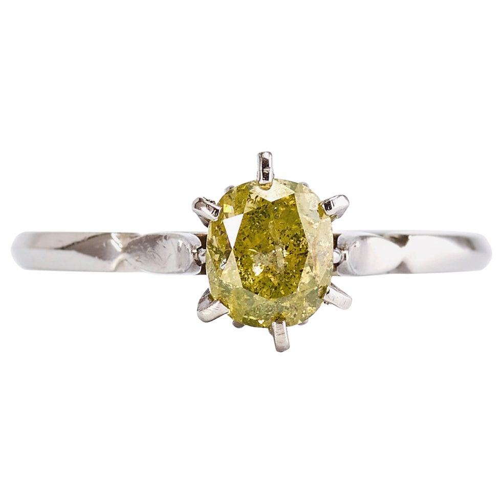 1.10 Carat Diamond 14k White Gold Engagement Ring
