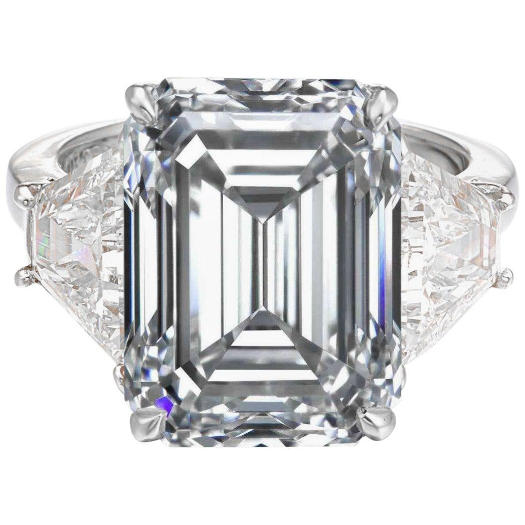 GIA Certified 2.75 Emerald Cut Diamond D Color VVS1 Clarity