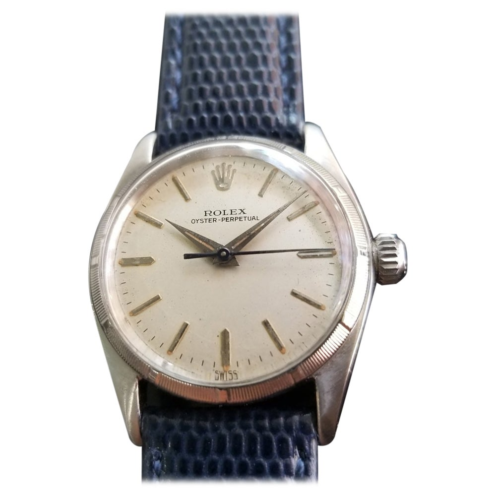 Midsize Rolex Oyster Perpetual Ref.6549 Automatic Watch, c.1950s RA144BLU