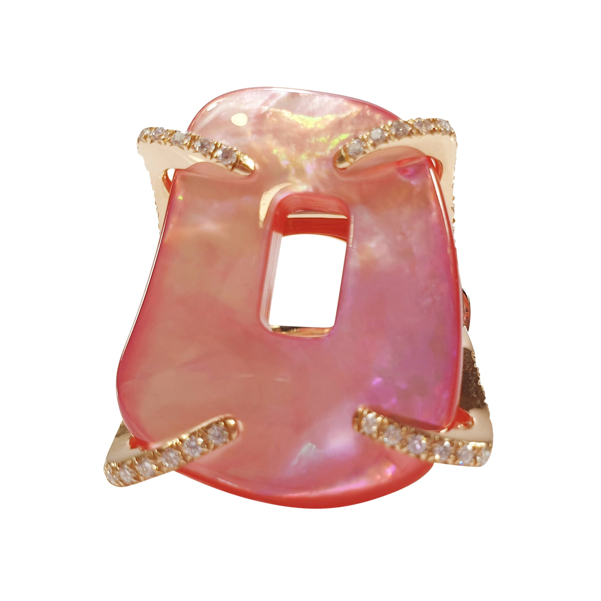 Mattioli Puzzle Collection 18 Karat Rose Gold Ring with White Diamonds