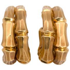 Cartier Bamboo Hoop Earrings