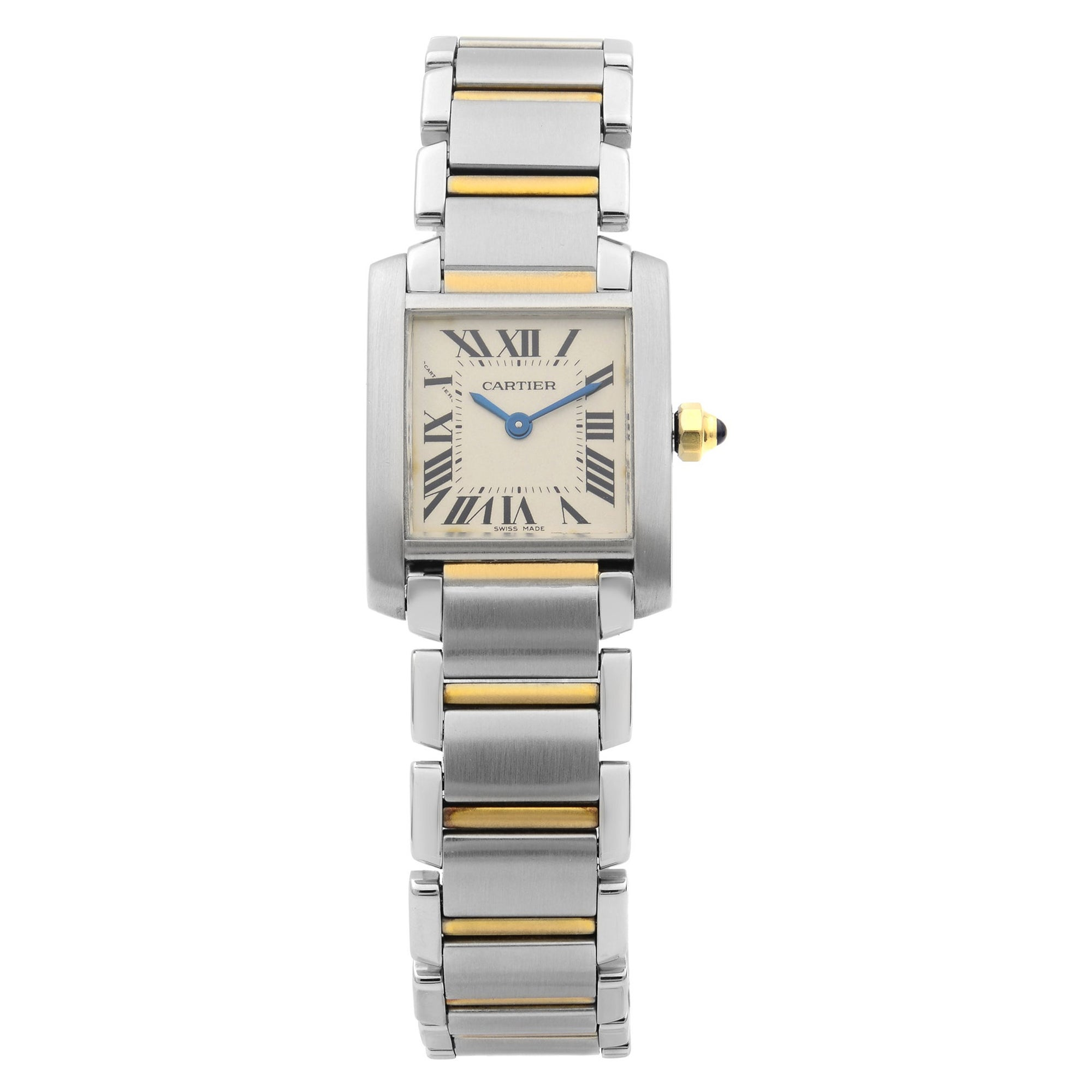 Cartier Tank Francaise 18K Yellow Gold Steel Quartz Ladies Watch W51007Q4