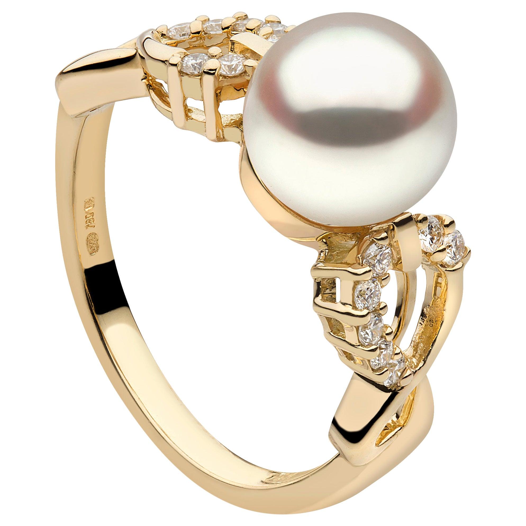 Yoko London South Sea Pearl and Diamond Ring in 18k Yellow Gold