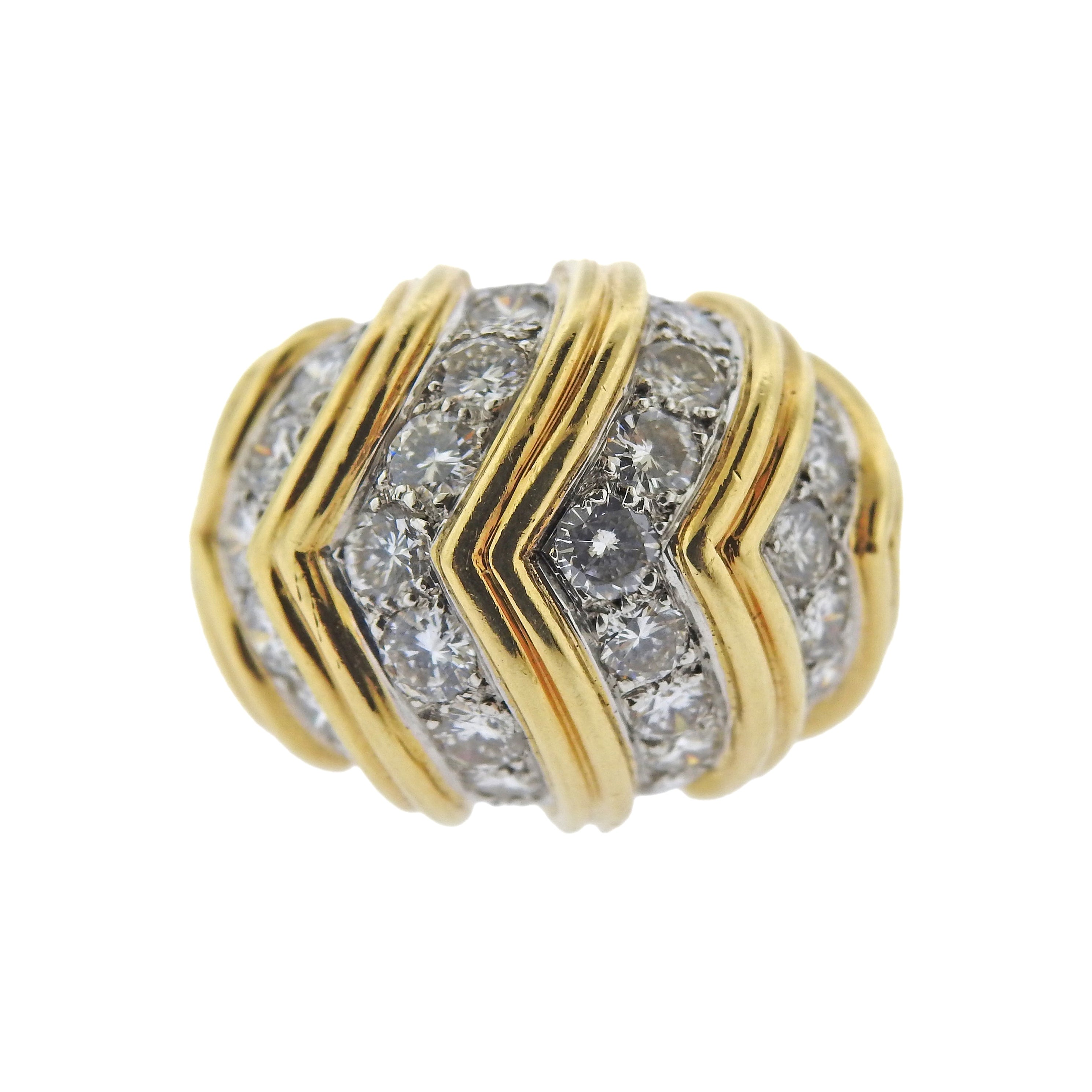 Tiffany & Co Diamond Gold Dome Ring