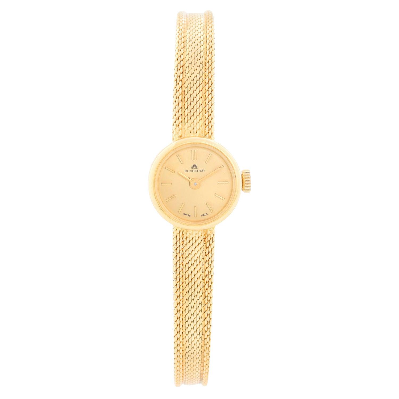 Bucherer 18k Yellow Ladies Gold Watch