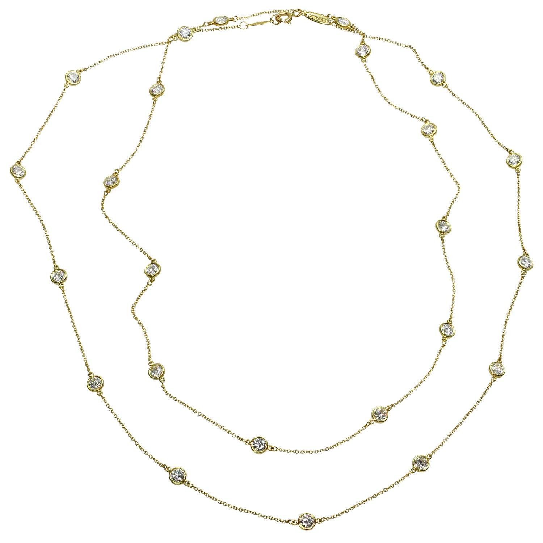 Tiffany & Co. Elsa Peretti Diamond by the Yard Long 18k Yellow  Necklace