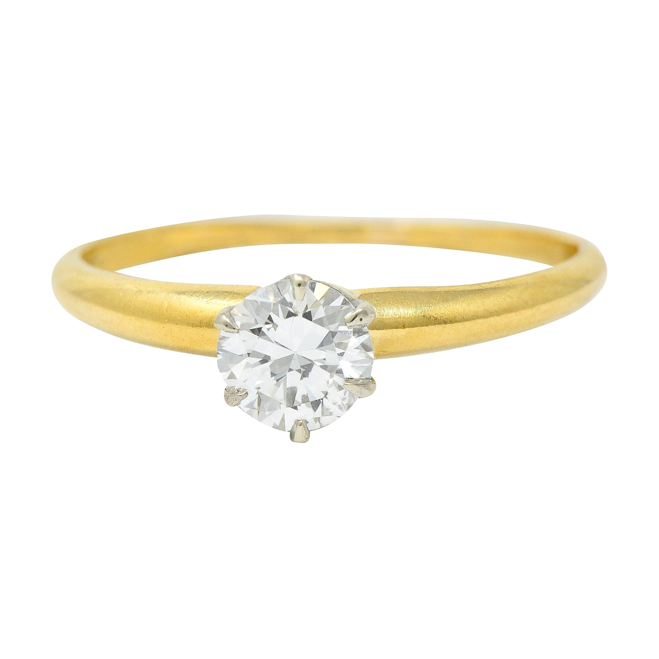 Tiffany & Co. 0.50 Carat Diamond 14 Karat Gold Solitaire Engagement Ring