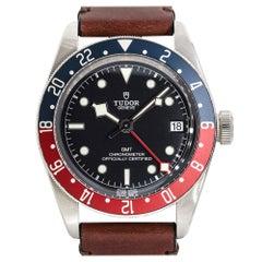 "Tudor 79830RB Black Bay GMT ""Pepsi"" Stainless Steel Black Dial Watch"
