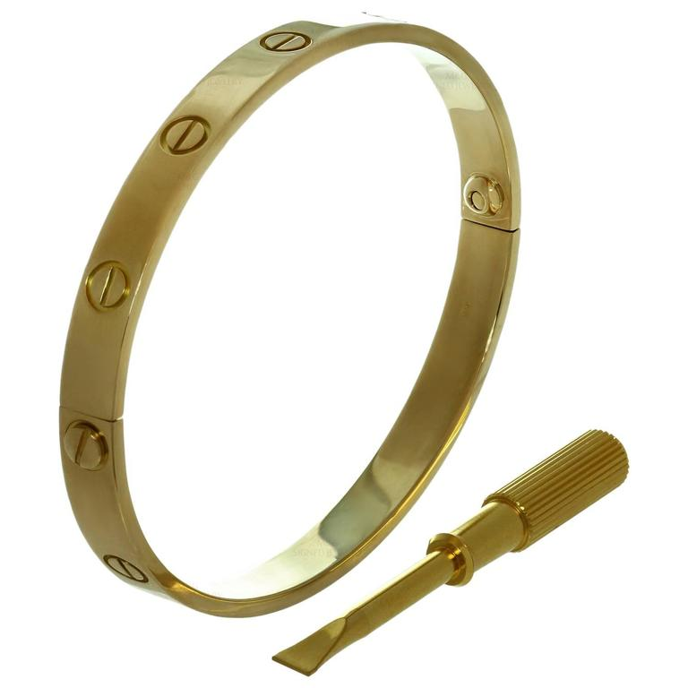 Cartier Love Gold Bangle Bracelet