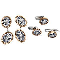 Buccellati Sapphire Diamond gold Dress Set