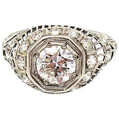 1926 Art Deco Diamond Platinum Engagement Ring