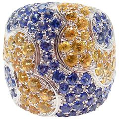 Pasquale Bruni Colours sapphire gold Petals Ring