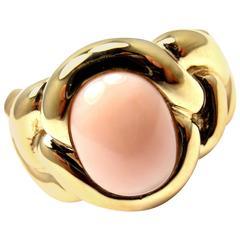 Van Cleef & Arpels Angel Skin Coral Braided Gold Band Ring