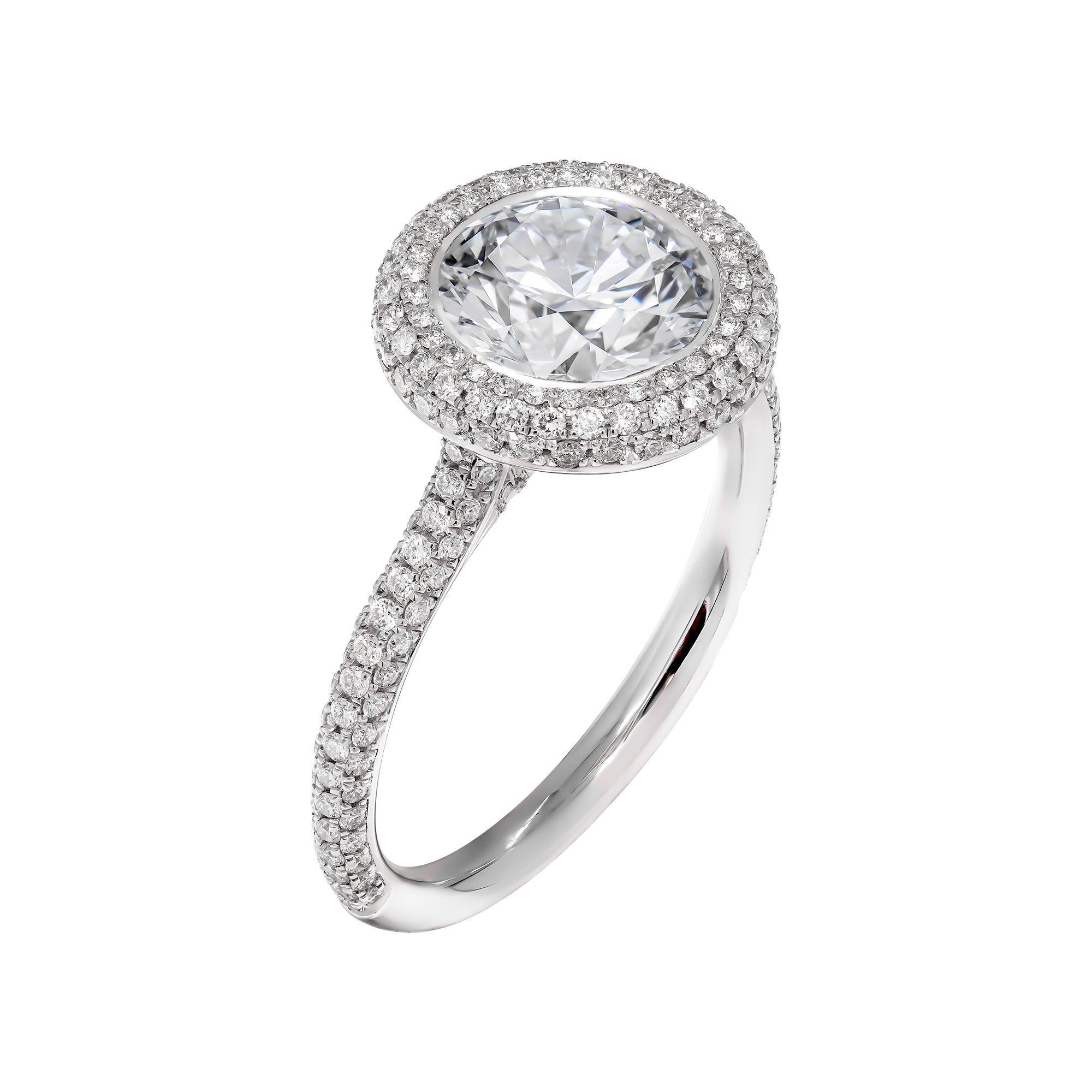 GIA Certified 2.05 Carat Round Diamond Engagement Ring