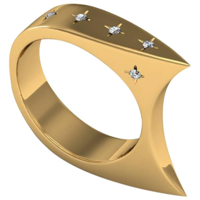 Zoe Stork & Sparkles Diamond and Gold Ring
