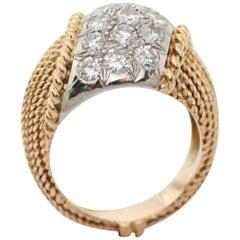Van Cleef & Arpels New York Diamonds Gold Platinum Ring circa 1970