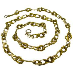 Tiffany & Co. Gold Link Necklace circa 1970