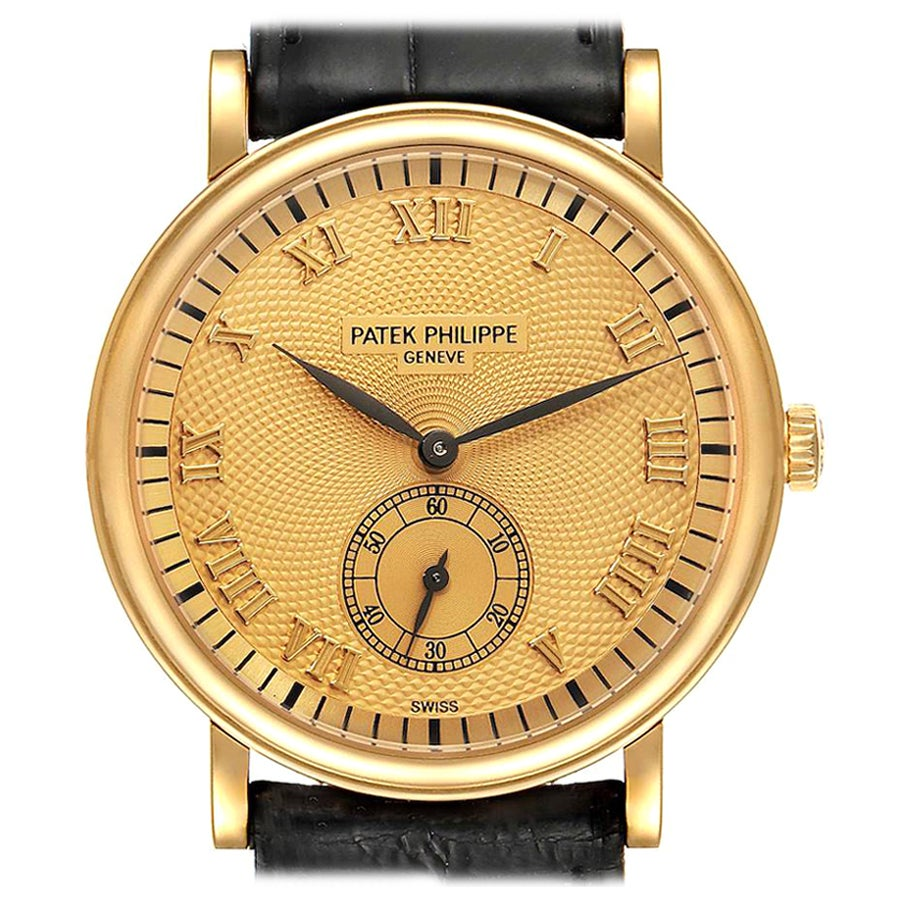 Patek Philippe Calatrava Officier Rose Gold Men's Watch 5022 Box Papers