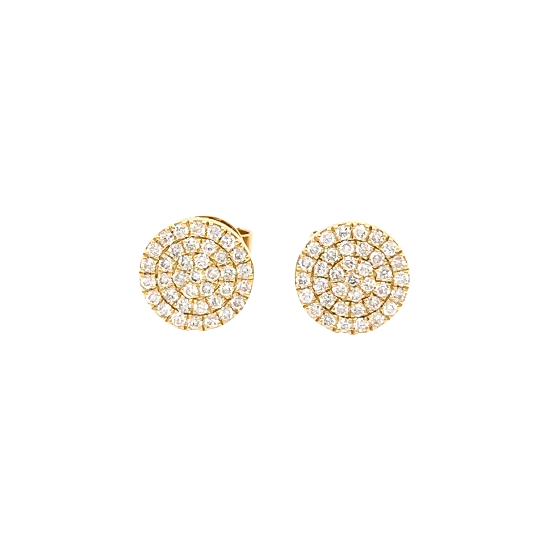 Diamond Cluster Stud Earrings