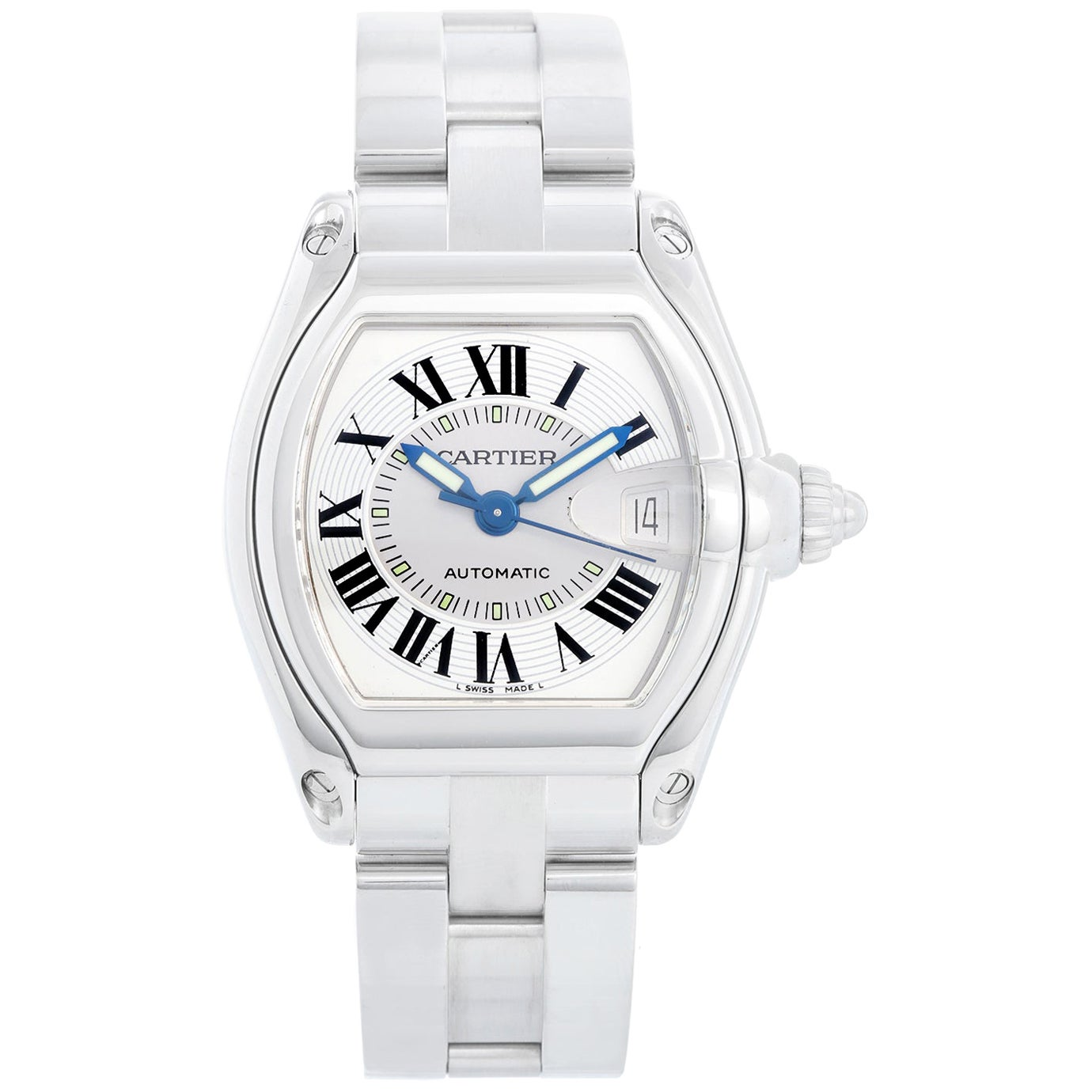 Cartier Automatic Stainless Steel Roadster Men's Watch W62025V3