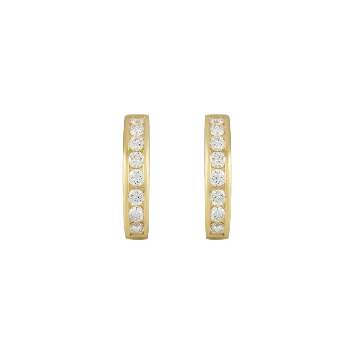Tiffany & Co. Diamond Hoop Earrings 0.96 Carat