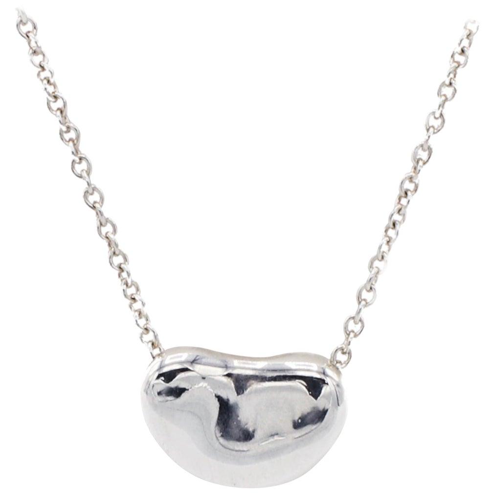 Tiffany & Co. Elsa Peretti Bean Sterling Silver Pendant Necklace