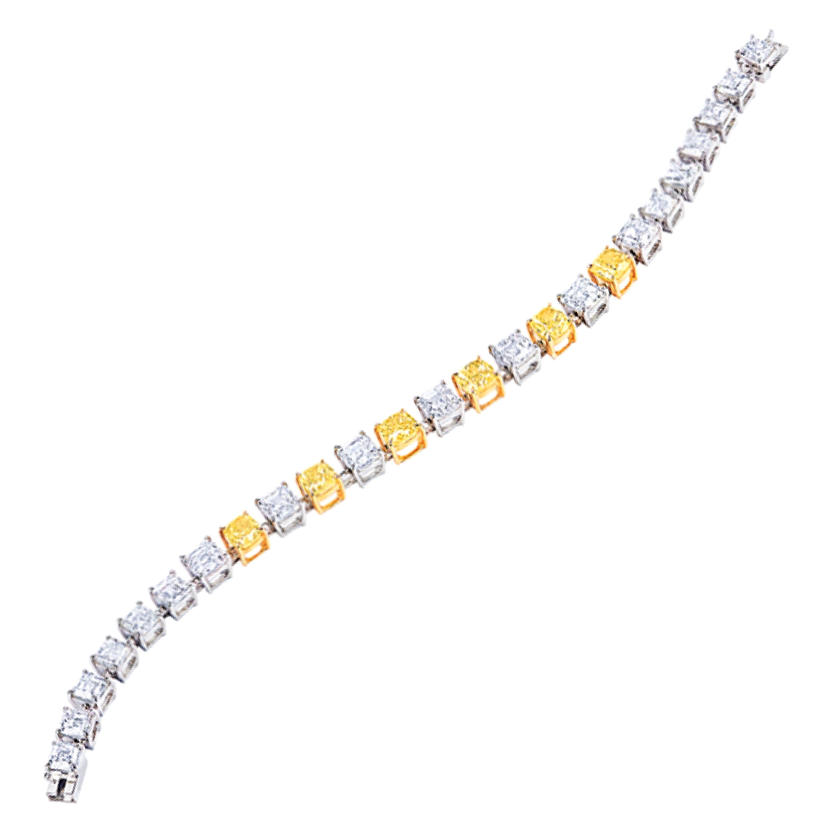 Emilio Jewelry GIA Certified Fancy Intense Diamond Bracelet