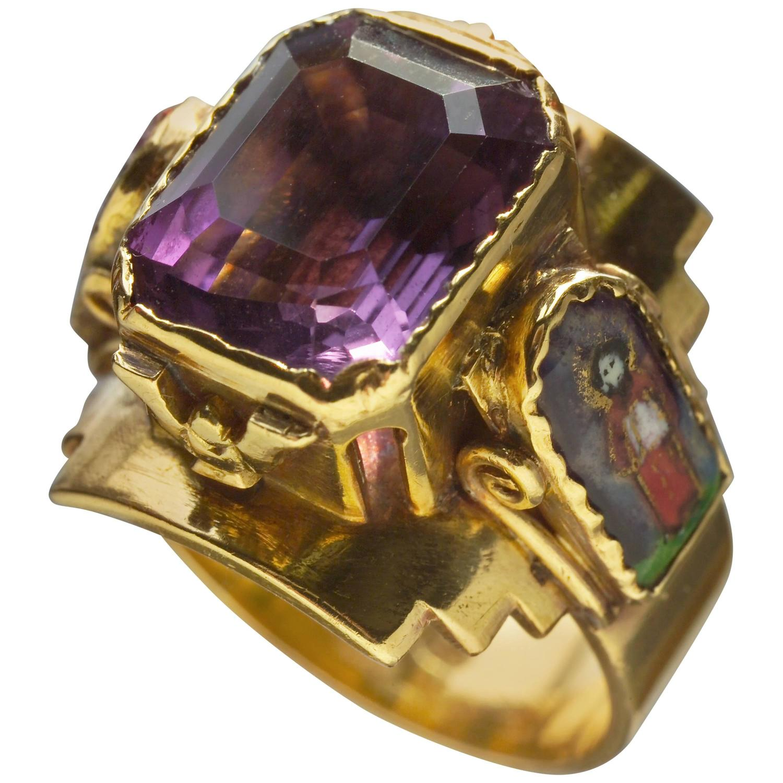 arts and crafts ecclesiastical ring at 1stdibs