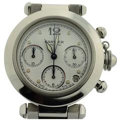 Cartier Stainless Steel Automatic Pasha Chronograph Wristwatch Ref 2412
