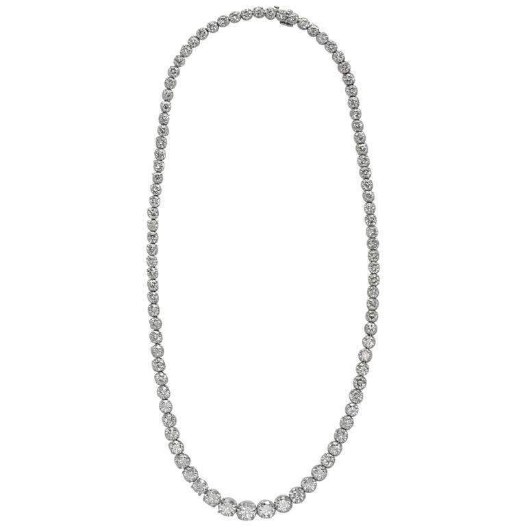 Cartier Diamond Gold Riviere necklace  For Sale