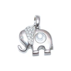 Chopard White Gold Happy Diamond Elephant Pendant
