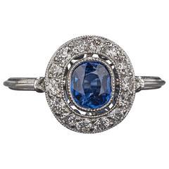 .50 Carat Sapphire Diamond Platinum Ring