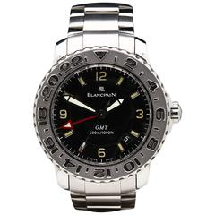 2004 Blancpain Stainless Steel Fifty Fathoms GMT Mens Watch 2250-1130-71